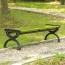 Outdoor Wood Long Garden Bench Image 2