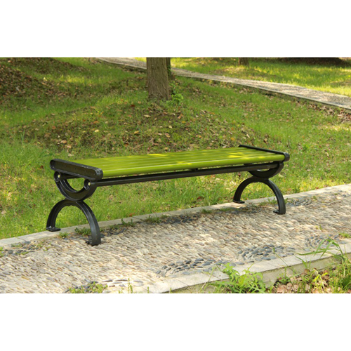 Outdoor Wood Long Garden Bench Image 4