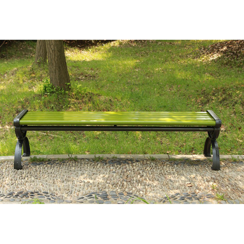 Outdoor Wood Long Garden Bench Image 5