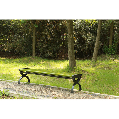 Outdoor Wood Long Garden Bench Image 6