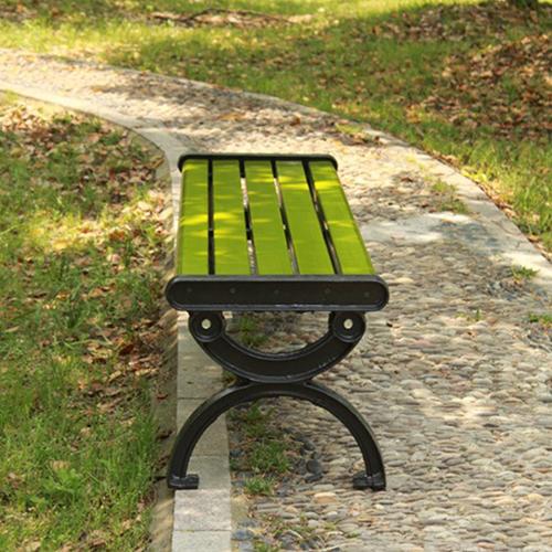Outdoor Wood Long Garden Bench Image 7