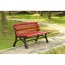 Bittor Outdoor Cast Iron Garden Bench Image 5