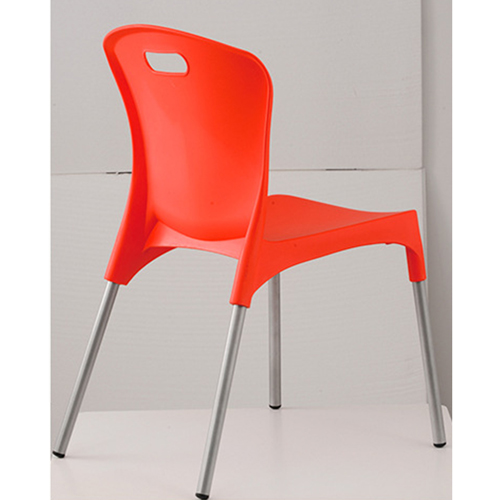 Modern Stackable Chair with Aluminum Legs Image 9