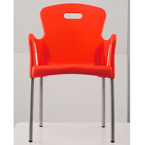 Modern Stackable Chair with Aluminum Legs Image 10