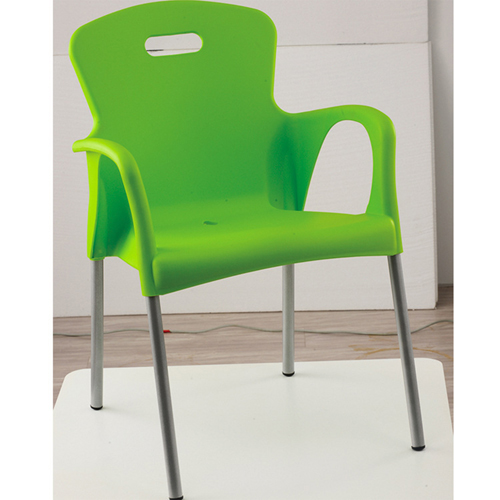 Modern Stackable Chair with Aluminum Legs Image 11