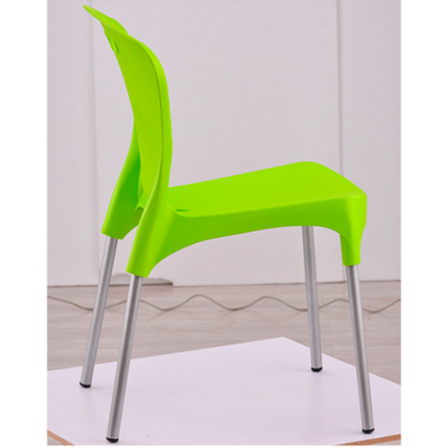Modern Stackable Chair with Aluminum Legs Image 12