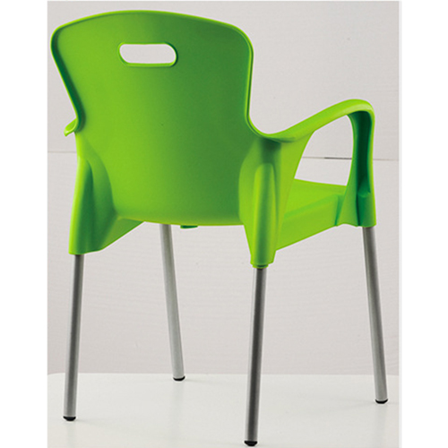 Modern Stackable Chair with Aluminum Legs Image 13