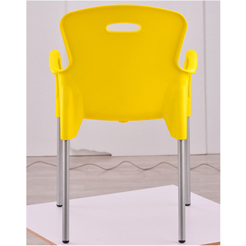 Modern Stackable Chair with Aluminum Legs Image 14