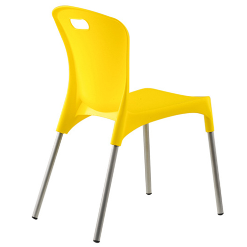 Modern Stackable Chair with Aluminum Legs Image 15