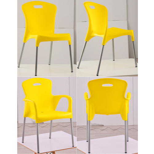 Modern Stackable Chair with Aluminum Legs Image 16