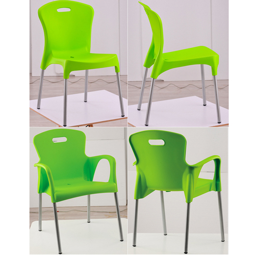 Modern Stackable Chair with Aluminum Legs Image 17