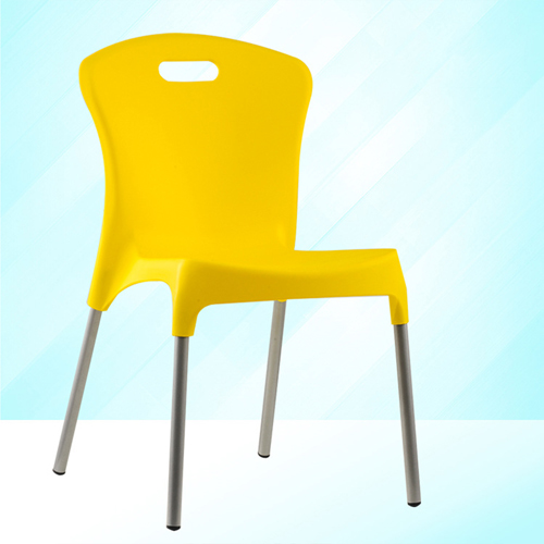 Modern Stackable Chair with Aluminum Legs