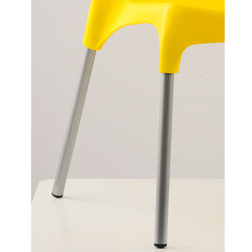 Modern Stackable Chair with Aluminum Legs Image 22