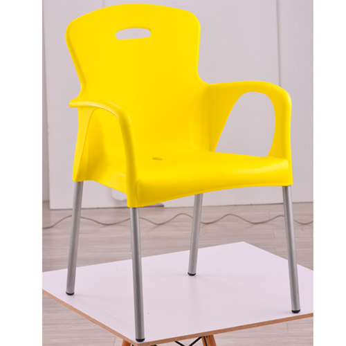 Modern Stackable Chair with Aluminum Legs Image 1