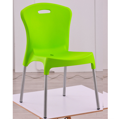Modern Stackable Chair with Aluminum Legs Image 3