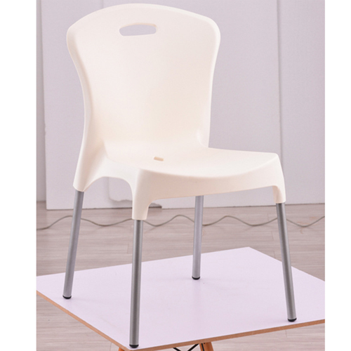 Modern Stackable Chair with Aluminum Legs Image 4