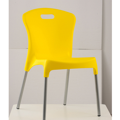 Modern Stackable Chair with Aluminum Legs Image 5