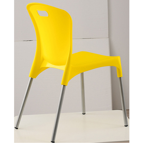 Modern Stackable Chair with Aluminum Legs Image 6