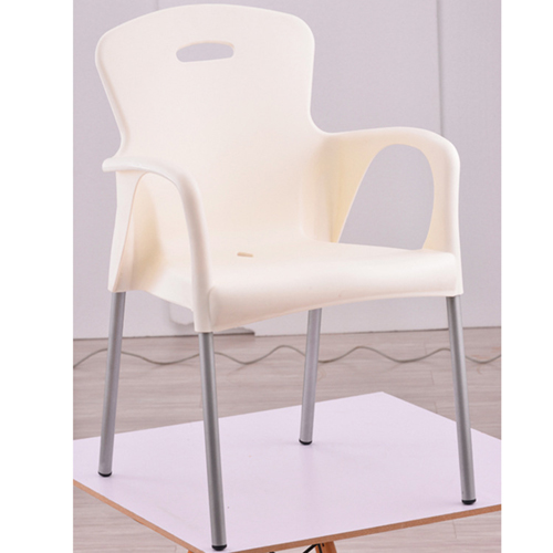 Modern Stackable Chair with Aluminum Legs Image 7