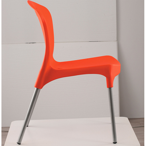 Modern Stackable Chair with Aluminum Legs Image 8