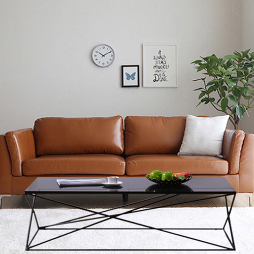 Ziore Leather Sofa Set With Chrome Legs Image 6