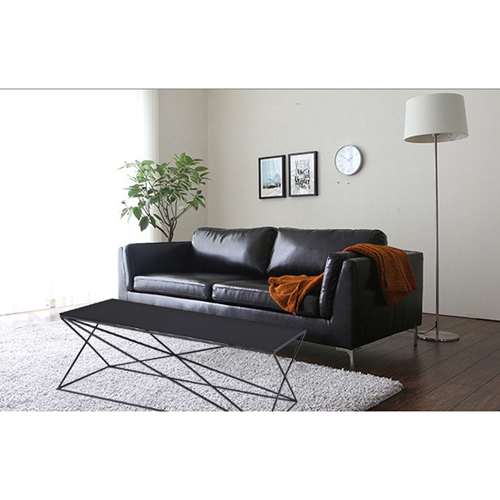 Ziore Leather Sofa Set With Chrome Legs Image 8