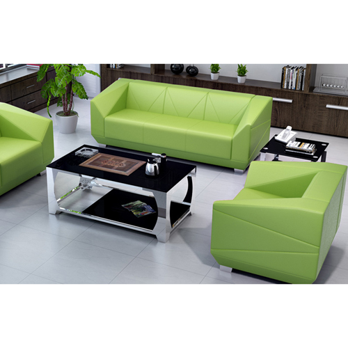 Diamond Leather Office Sofa Set Image 10