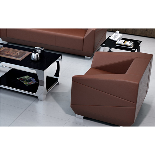 Diamond Leather Office Sofa Set Image 12