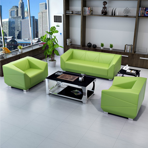 Diamond Leather Office Sofa Set Image 1