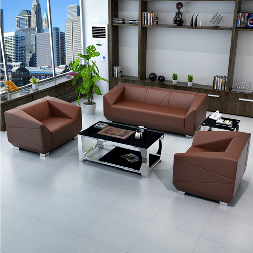 Diamond Leather Office Sofa Set Image 2