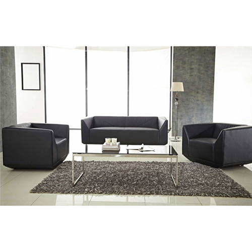 Diamond Leather Office Sofa Set Image 6