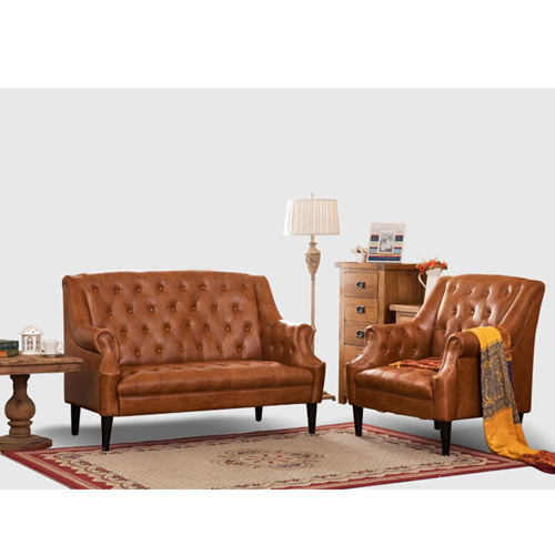 Classic Button Tufted Leather Chair
