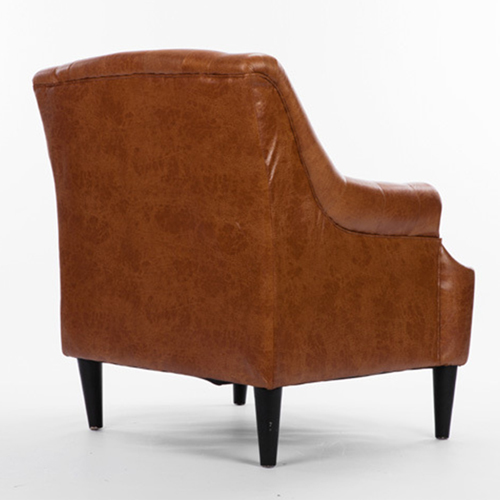 Classic Button Tufted Leather Chair Image 12