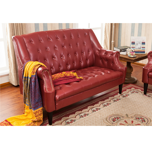 Classic Button Tufted Leather Chair Image 14