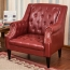 Classic Button Tufted Leather Chair Image 15