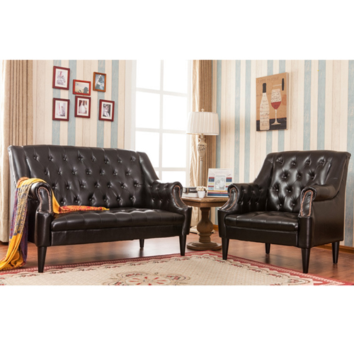 Classic Button Tufted Leather Chair Image 17