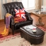 Classic Button Tufted Leather Chair Image 18