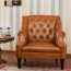 Classic Button Tufted Leather Chair Image 1