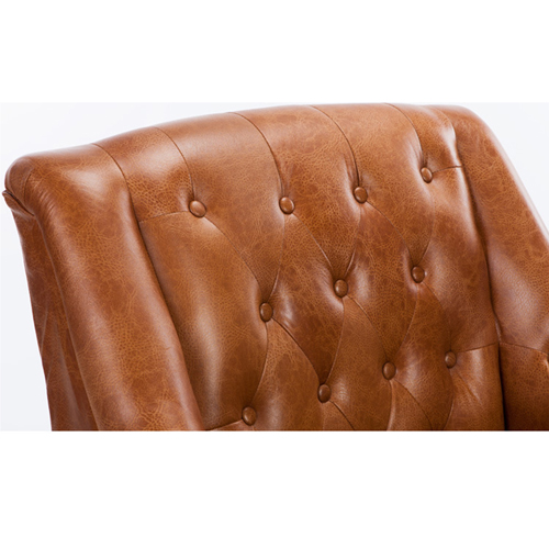 Classic Button Tufted Leather Chair Image 20