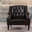 Classic Button Tufted Leather Chair Image 3