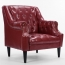 Classic Button Tufted Leather Chair Image 4