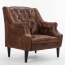 Classic Button Tufted Leather Chair Image 5