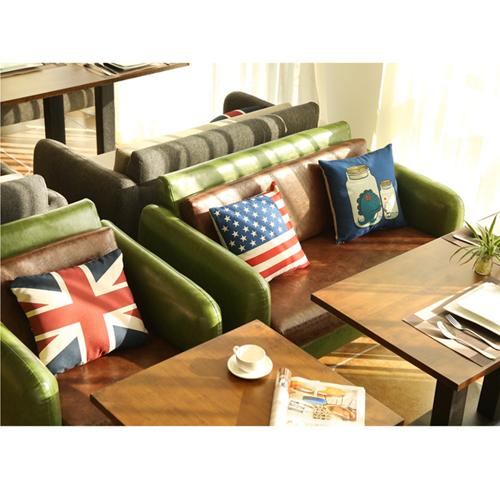 Dual Fabric Wooden Sofa