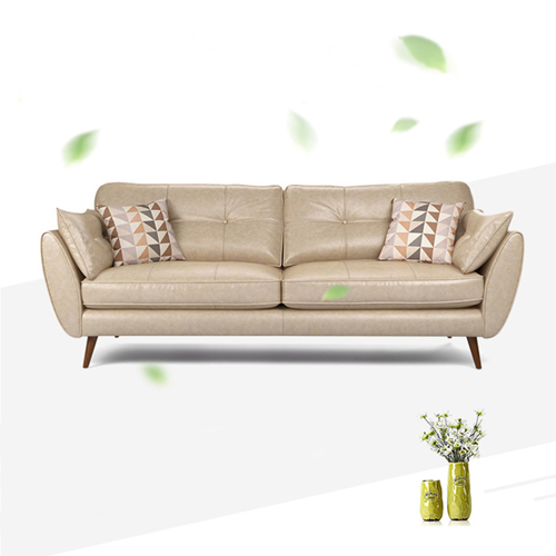 Zinc Four Seater Leather Sofa Image 9