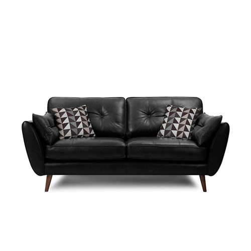 Zinc Four Seater Leather Sofa Image 10