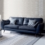 Zinc Four Seater Leather Sofa Image 1