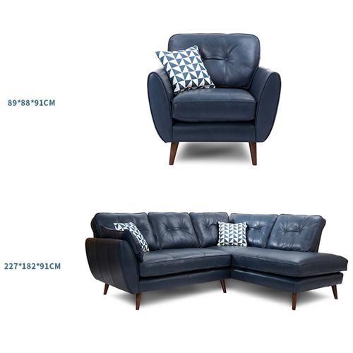 Zinc Four Seater Leather Sofa Image 22