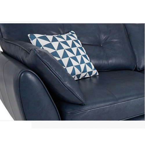 Zinc Four Seater Leather Sofa Image 26