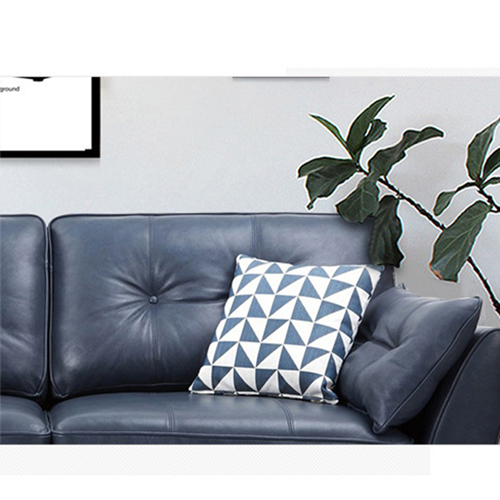 Zinc Four Seater Leather Sofa Image 27