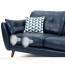 Zinc Four Seater Leather Sofa Image 30